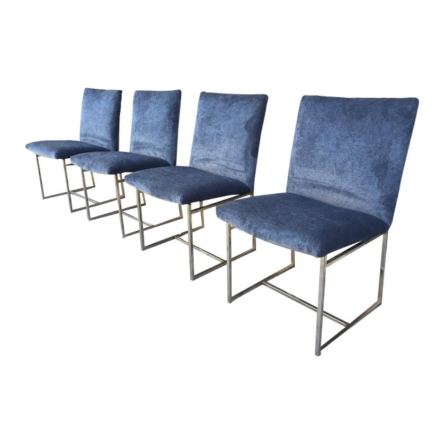 Milo Baughman Vintage Dining Chairs - Set of 4 - Image 1 of 5