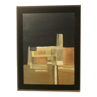 Original Abstract Painting From Artist Featured in Ca Museums