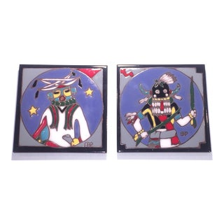 Eleny Prusa Hopi Indian Handpainted Tile Trivets