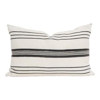Vintage African Mudcloth Pillow Striped Lumbar