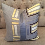 Image of Dransfield and Ross Handmade Gray Linen Pillow