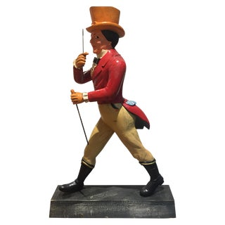 Johnny Walker Striding Man Figure Solid Wood 3 Feet Tall