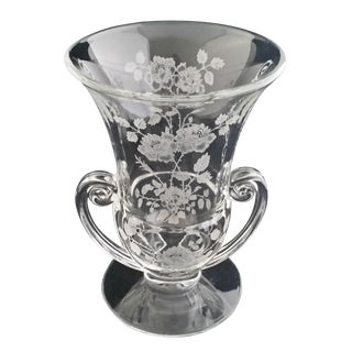 Fostoria Glass Midnight Rose Flower Vase