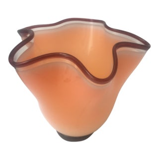 2006 Art Glass Handkerchief Vase
