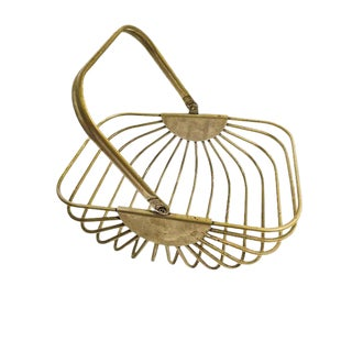 Vintage Heavy Metal Wire Basket