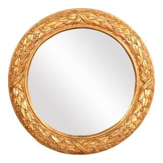 Gold Leaf Round Mirror