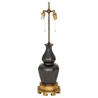 Mid-Century Lamp on Giltwood Base
