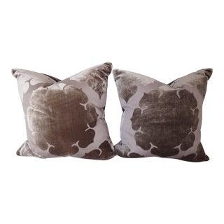 Lavender Down Filled Throw Pillows - A Pair