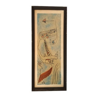 Original Abstract Lithograph by Paul Klee