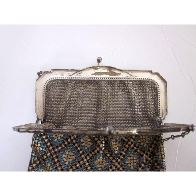 Image of 1920's Whiting & Davis Co. Enamel Mesh Bag Purse