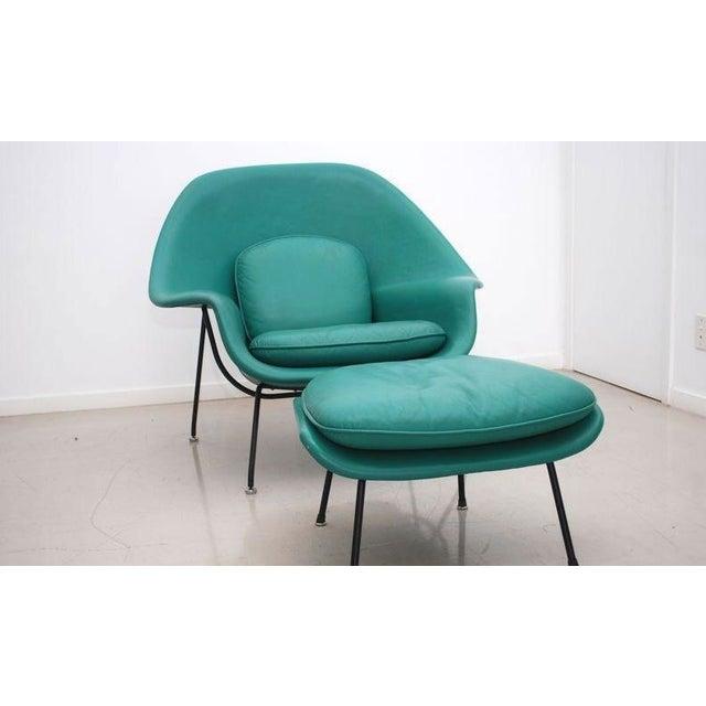 Vintage Leather Saarinen Womb Chair Ottoman Chairish