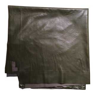 Dark Green Faux Leather Remnant