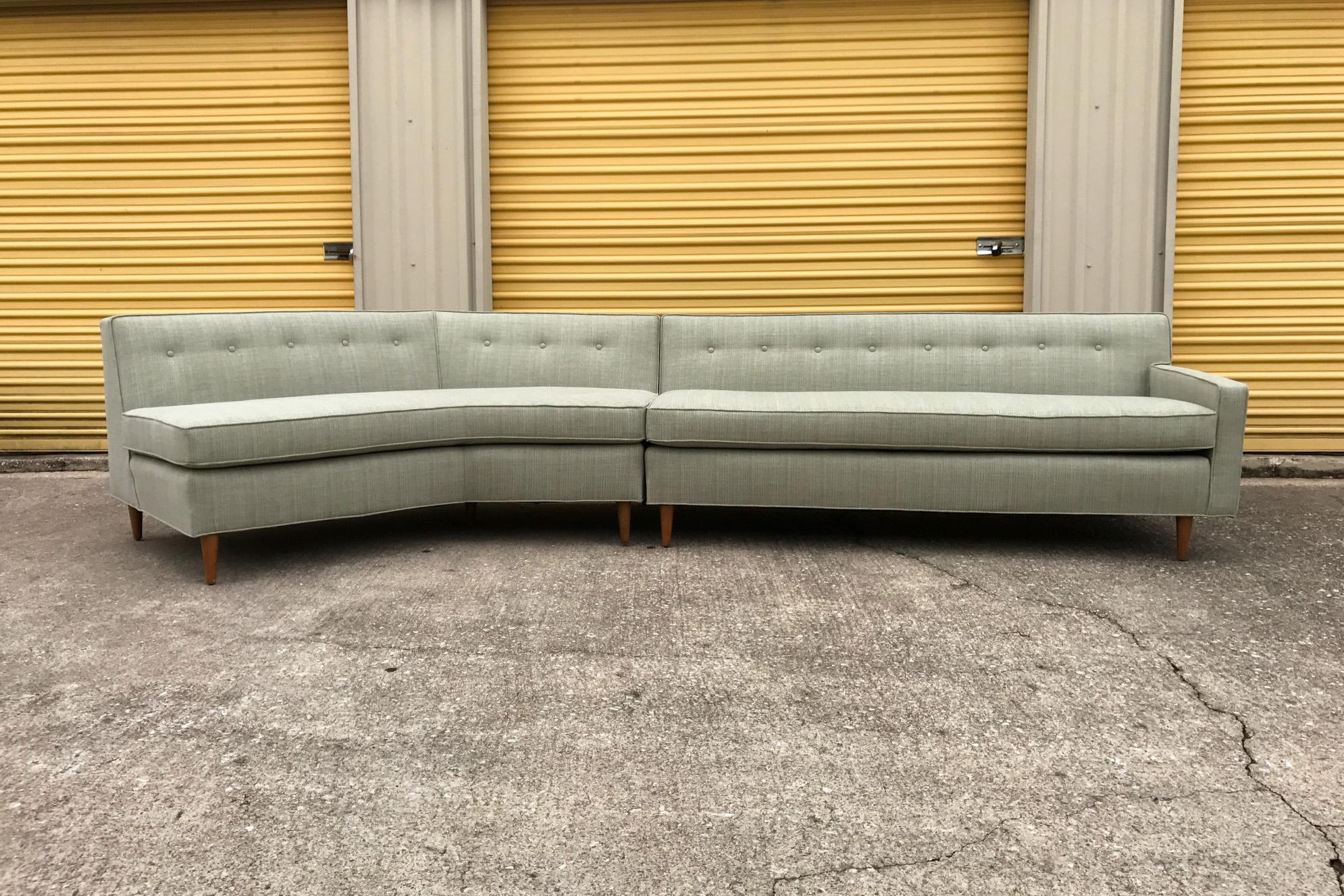 Marden Mid Century Sectional Sofa   2 Pieces   Image 2 Of 11