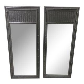 Faux Bamboo Mirrors - A Pair