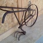 Image of Antique Tiller Plow Steel Yard Art