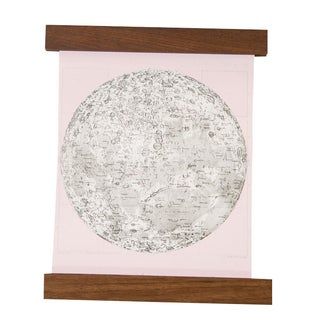 Antique Moon Chart Pull Down, Revival in Pink