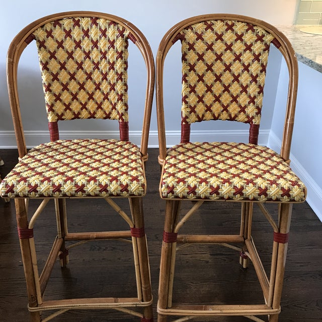 Maison Drucker French Bistro Bar Stools - A Pair - Image 3 of 7