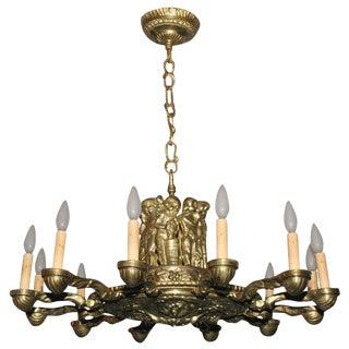 Bronze 12 Light Chandelier