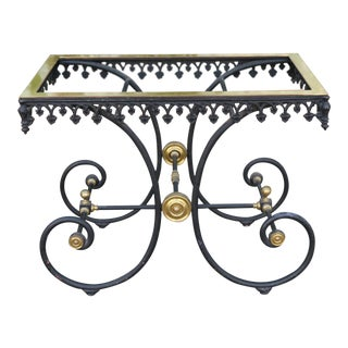 Wrought Iron and Brass Pastry Table Base