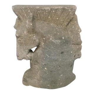 Concrete Embossed Horse Head