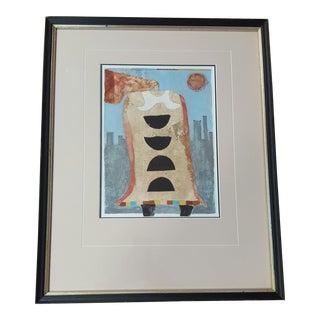 "Framed ""City Style"" Acrylic Painting"