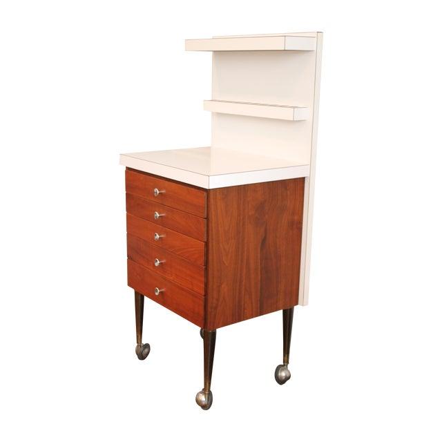 Vintage Rosewood 5-Drawer Cabinet on Casters - Image 1 of 9