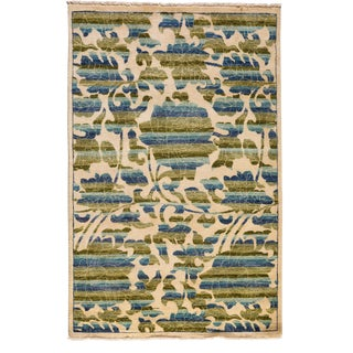 "Suzani Hand Knotted Area Rug - 4'1"" X 6'3"""