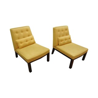 Edward Wormley Dunbar Slipper Lounge Chairs - Pair