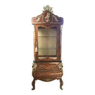 Brass Inlay Display Cabinet