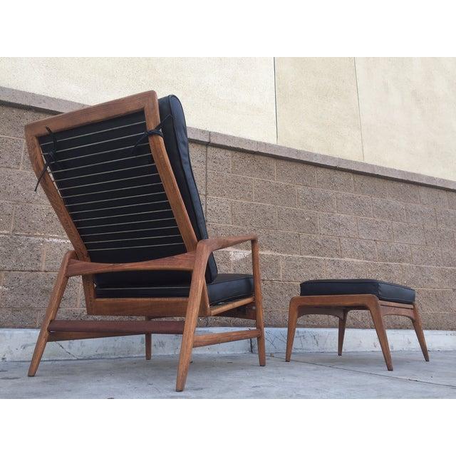 Image of Danish Modern Leather Recliner by IB Kofod Larsen