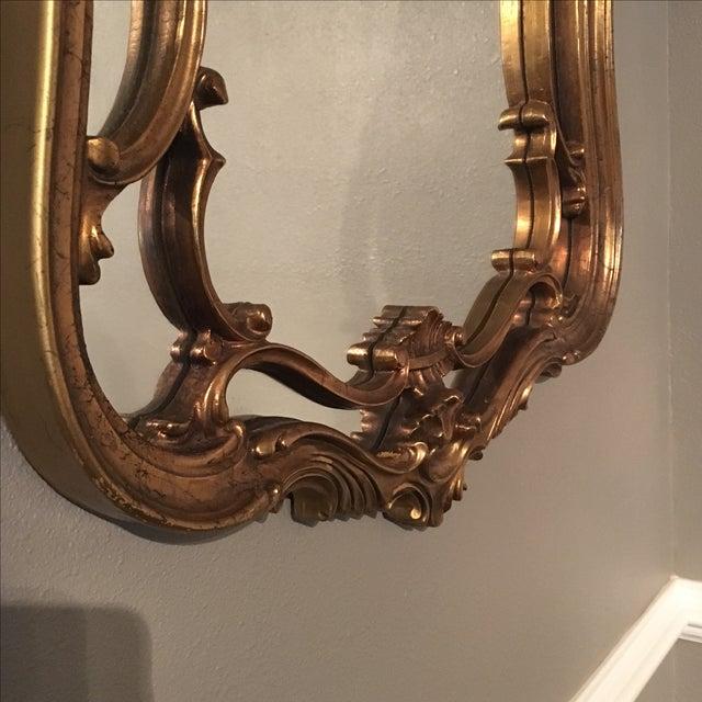 Vintage Ornate Arched Gold Mirror - Image 3 of 6