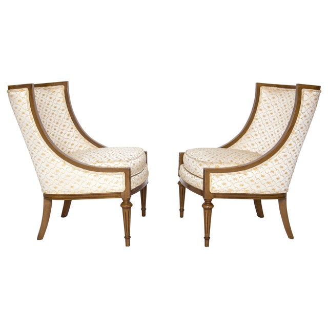 Slipper Chairs by Hibriten, A Pair - Image 2 of 10