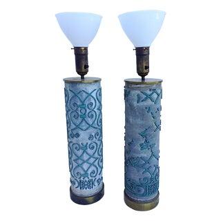 Wallpaper Roll Lamps - A Pair