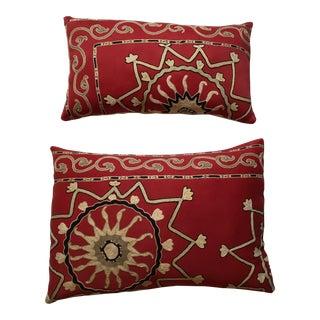 Antique Suzani Pillows - A Pair