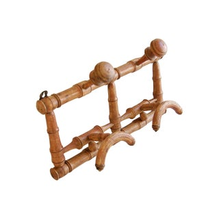 Antique French Faux-Bamboo Coat & Hat Rack