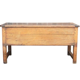 Oak French Console Coffer Table