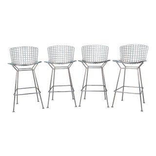 Harry Bertoia Chrome Bar Stools for Knoll - Set/4