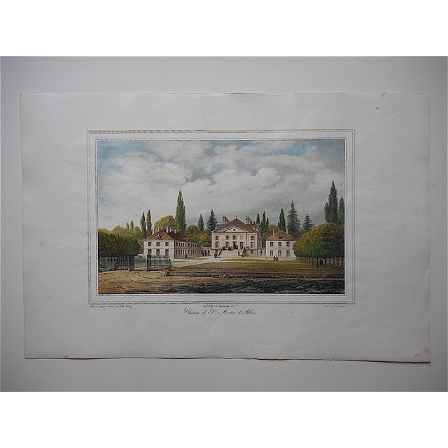 Antique Chateaux De France Lithograph - Image 2 of 3