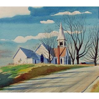 """Crisp Autumn Morning"" Watercolor Painting by L. McClelland"