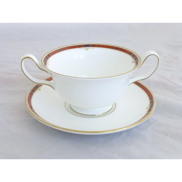 "Wedgwood ""Colorado Gold"" Cream Soup & Saucers Set - Image 6 of 7"