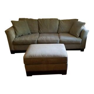 Sage Kenton Sofa & Ottoman - A Pair