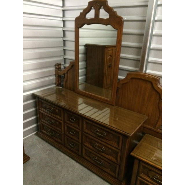 "1975 ""Huntley"" by Thomasville Long Dresser - Image 4 of 7"