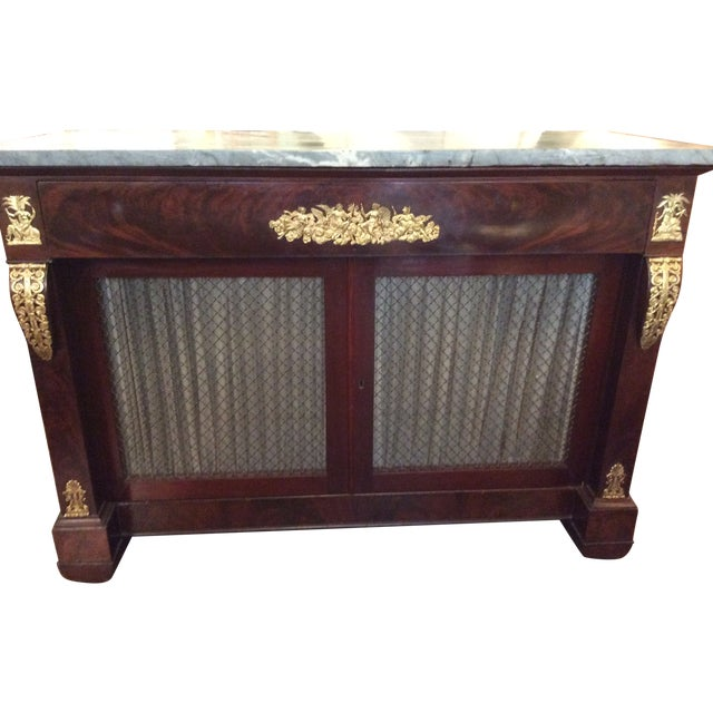 Gray Marble Top Credenza - Image 1 of 6