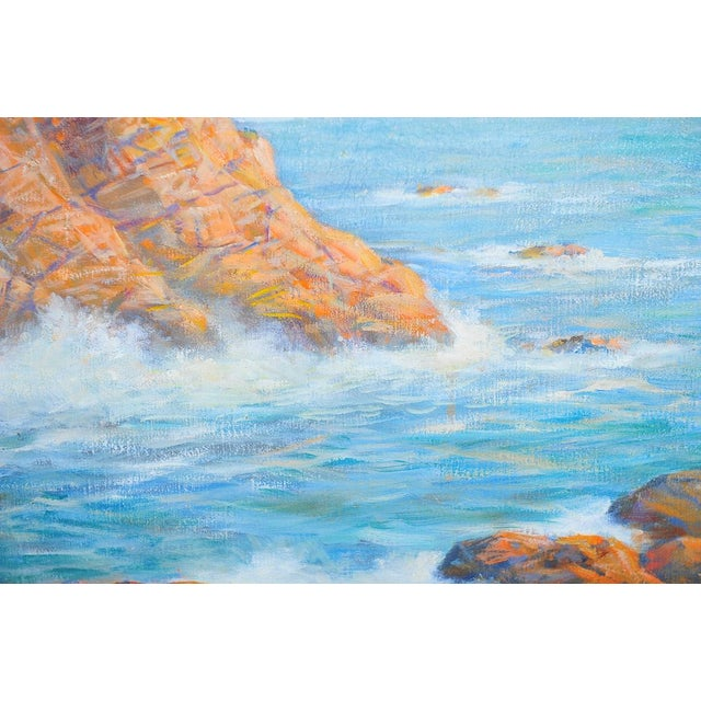 1935 Andreas Roth Carmel Coastline Oil Painting - Image 5 of 9