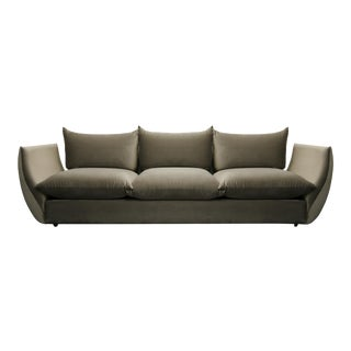 Mid Century Italian Gondola Style Sofa in the Manner of Mario Marenco for Arflex
