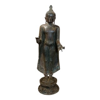 17th century Pagan Standing Bronze Buddha from Burma