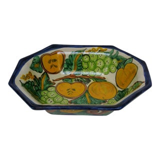 Mexican Ceramic Fruit Bowl