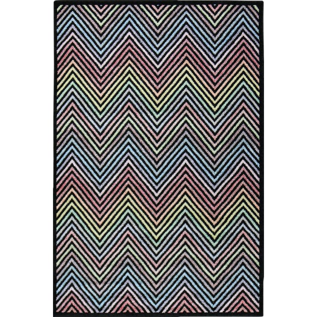 Flawless Multi Color Chevron Rug -- 8'x 11' - Image 1 of 3