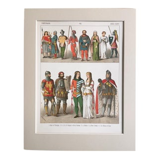 "19th Century Costume Print ""German 1350-1400"""