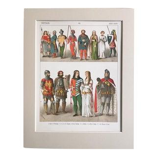 "19th Century Costume Print ""German 1350-1400"""